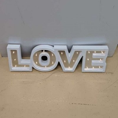 Light up sign (love) picture 1