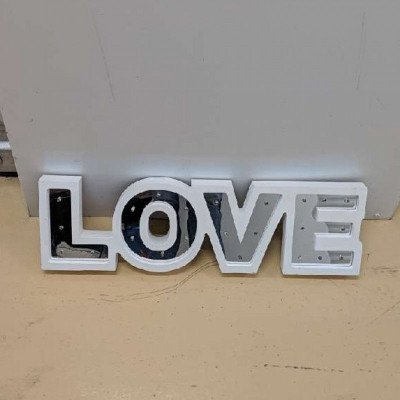 Light up sign (love) picture 2