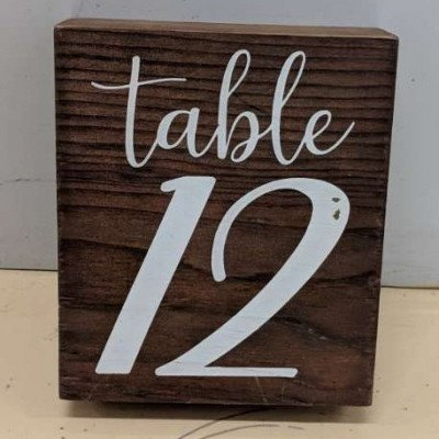 Table numbers - wooden picture 1