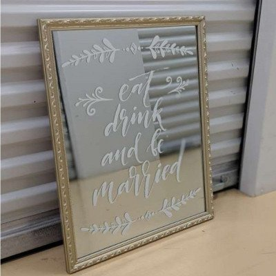 Eat, drink, and be married - mirror picture 1