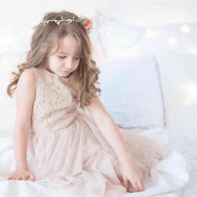 Blush dress for child 6-8 years picture 4