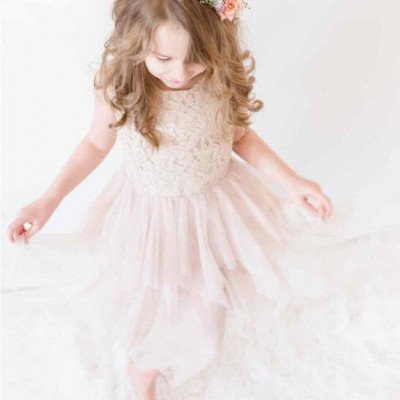 Blush dress for child 6-8 years picture 1