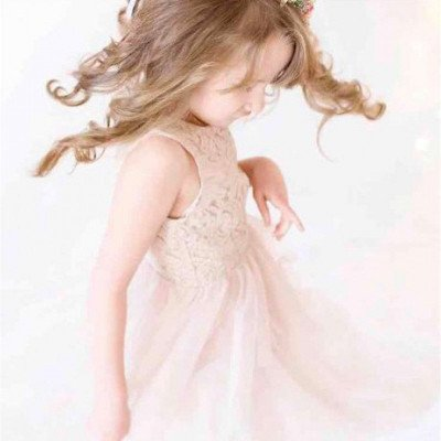 Blush dress for child 6-8 years picture 3