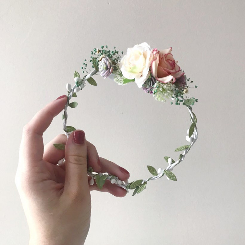 2 floral crowns - photography prop