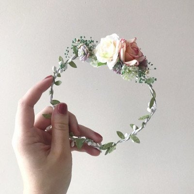2 floral crowns - photography prop-1
