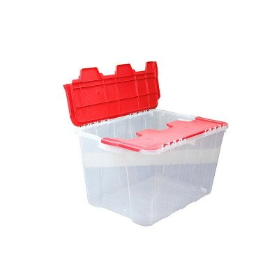 flip-top storage tote