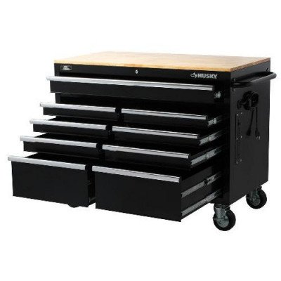 9-drawer tool chest with mobile workbench-1
