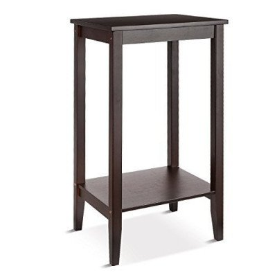 wood coffee table tall end table-1