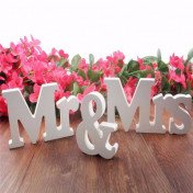 white wooden letters wedding decoration