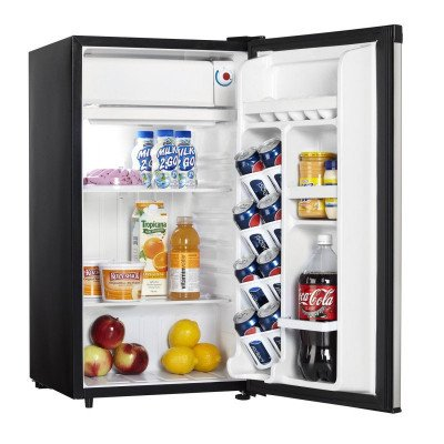 stainless steel mini fridge-1