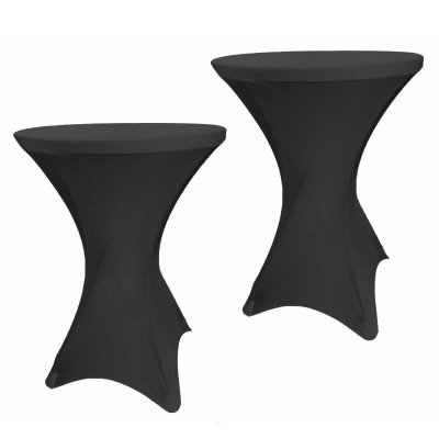 spandex cocktail table cover - black