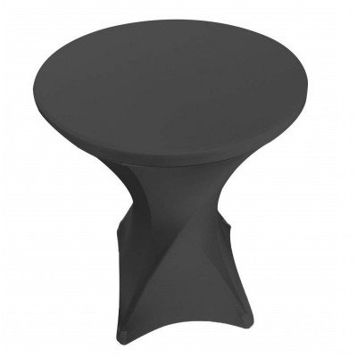 spandex cocktail table cover - black-1
