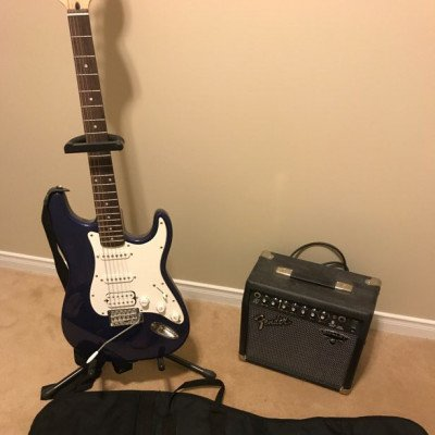 electric guitar - fender squier strat affinity-1
