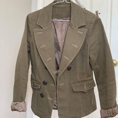 4/xs - army boss - khaki military blazer