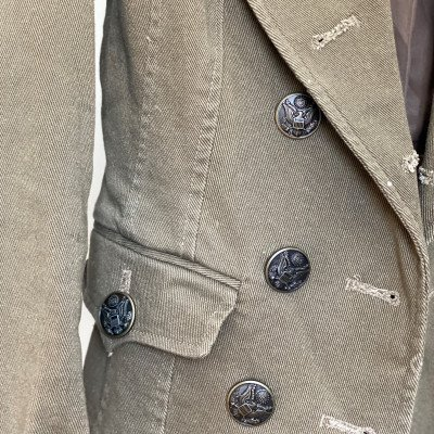 4/xs - army boss - khaki military blazer-2