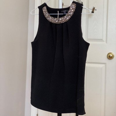 xs - black embellished cami