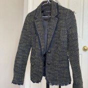 0P/XS - Forest Boss - Green and Navy Tweed Blazer