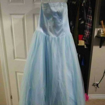 prom dress - baby blue- size 12