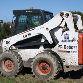 Large Skid Steer With Grapple Rock Bucket