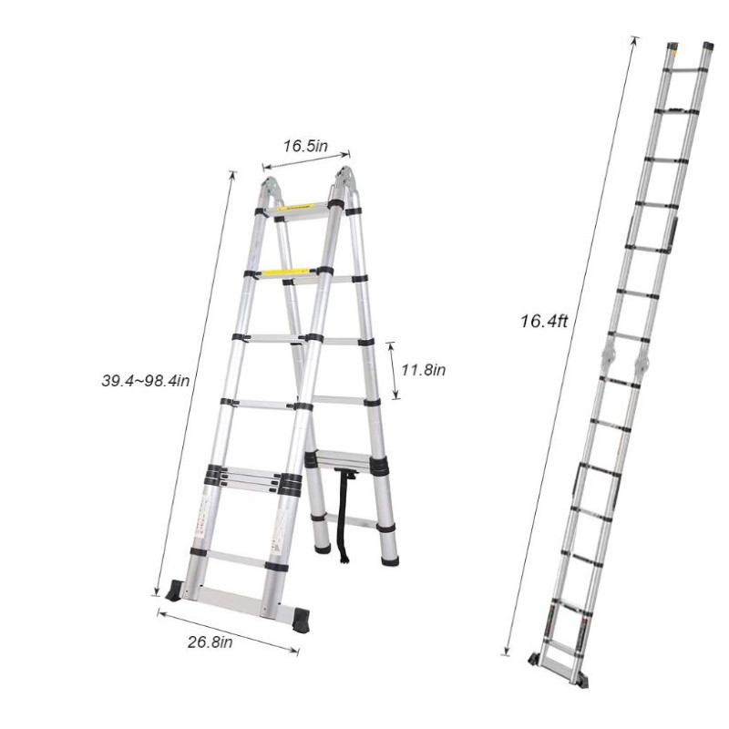 Aluminum Telescoping Ladder 16.5