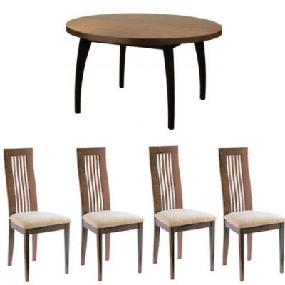 avant dining table and nova dining chairs