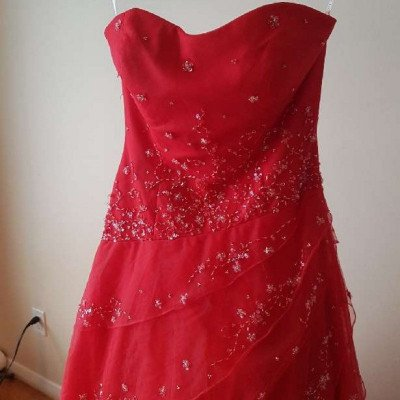 red gown with sequin detail-1