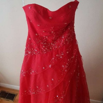 red gown with sequin detail-2