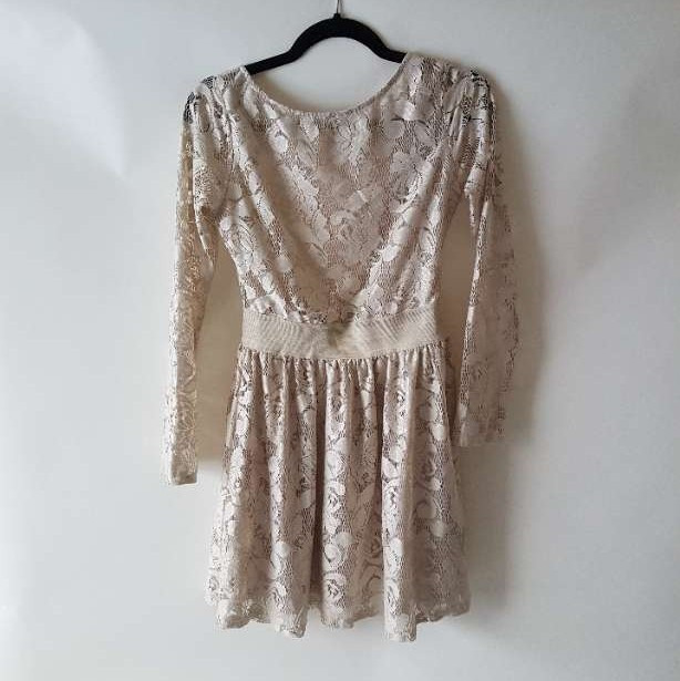 Off White lace skater dress