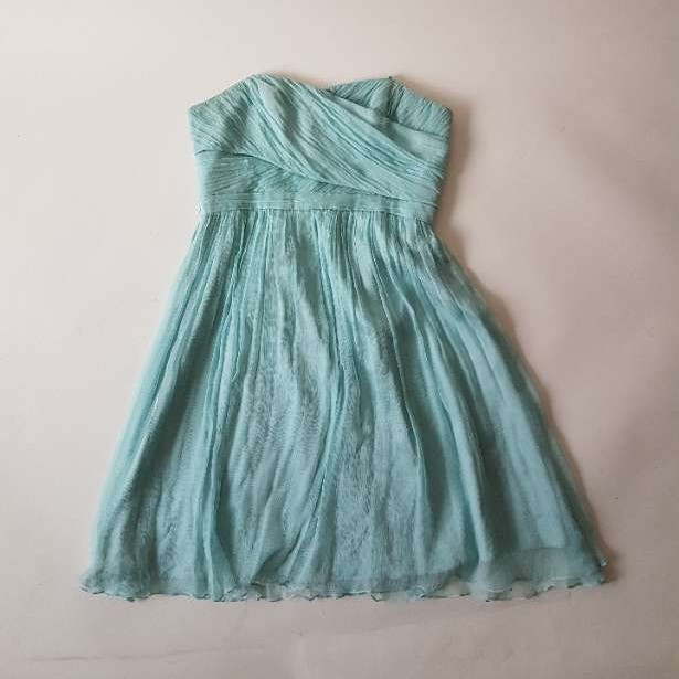 Seafoam green chiffon cocktail dress