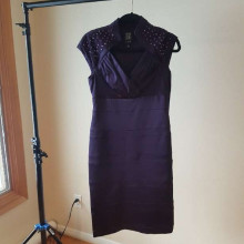Deep purple cocktail dress