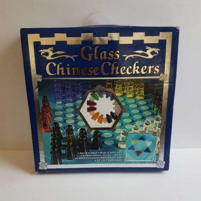 glass chinese checkers - board game