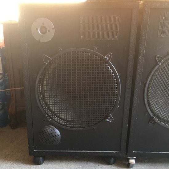 2 speakers 250 watts for each  cables-1