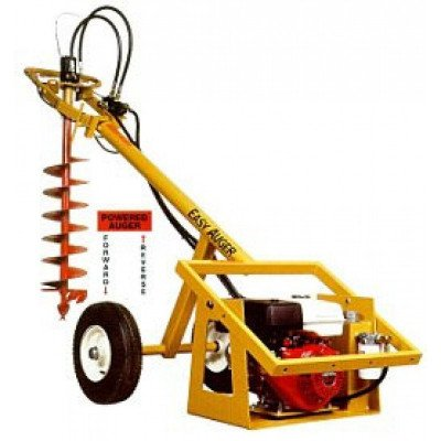hydraulic-powered auger