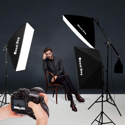 photography studio softbox lighting kit picture 1