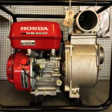 "water pump - 3"" discharge - gas powered honda"