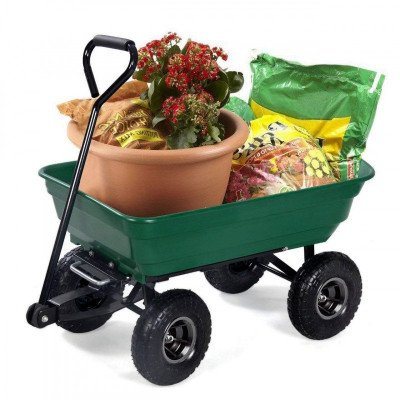 garden dump cart with steel frame picture 1