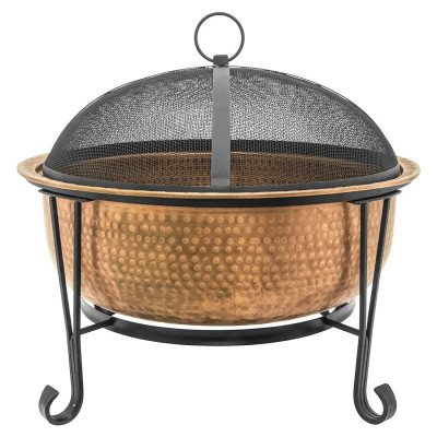 vintage copper fire pit-1