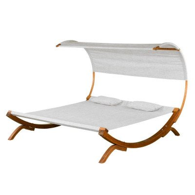 sunbed with canopy