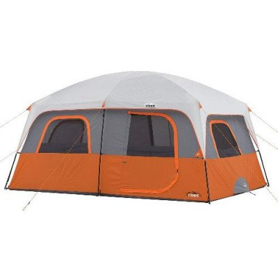 10 person straight wall cabin tent-1