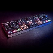pocket DJ controller with audio interface