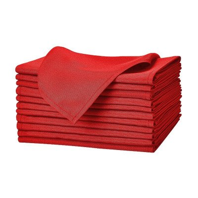 dinner table napkin - red-1