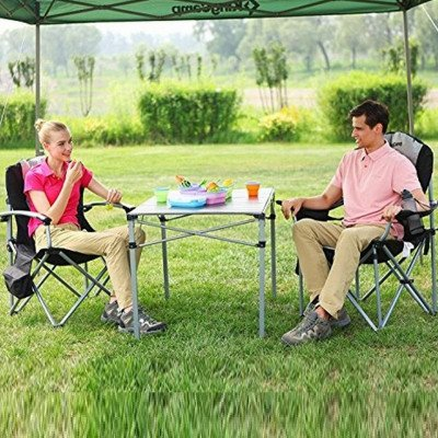 heavy duty folding deluxe large size camping chair picture 1
