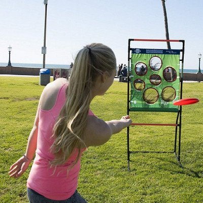 flying disc toss - backyard and lawn game picture 1