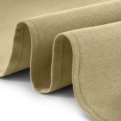 beige round tablecloth picture 2