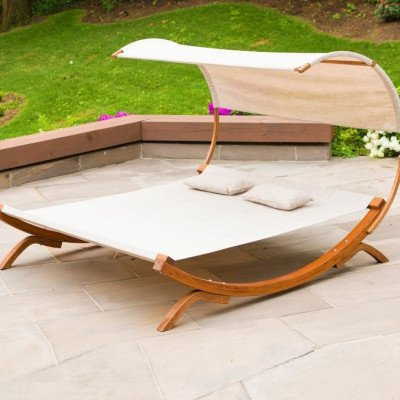 sunbed with canopy-1