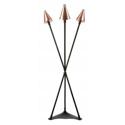 3-head natural gas tiki torch stand
