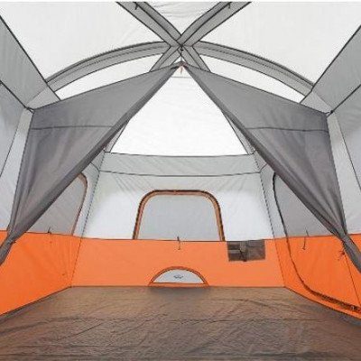 10 person straight wall cabin tent-2