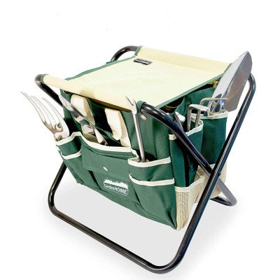 folding stool with tool bag