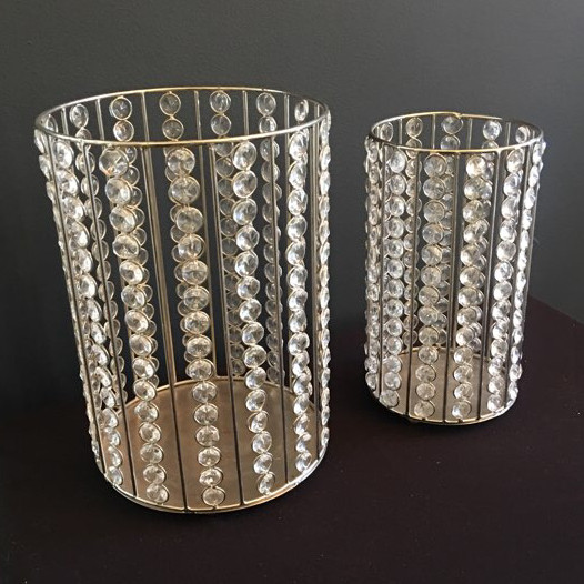 tabletop Candleholders with crystals
