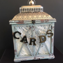 Shabby chic Wedding card box